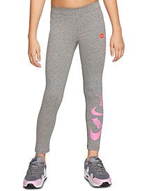 Nike Big Girls Logo-Print Leggings