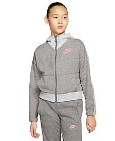 Big Girls Air Colorblocked French Terry Hoodie