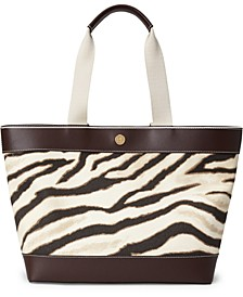 Harper Medium Printed Canvas Tote