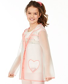 Big Girls Clear Heart Raincoat, Created for Macy's