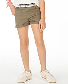 Big Girls Belted Shorts, Created for Macy's