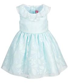 Little Girls Floral Burnout Dress