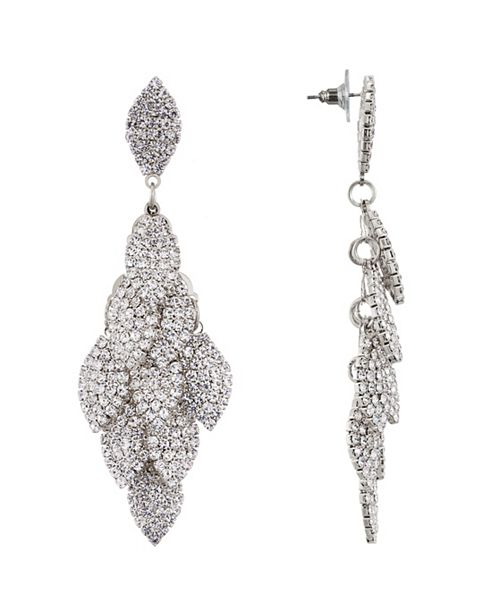 Nina Layered Crystal Leaf Earring