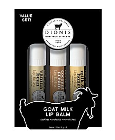 Goat Milk Lip Balms Coconut, Set of 3
