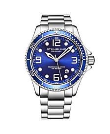 Men's Silver Tone Stainless Steel Bracelet Watch 43mm