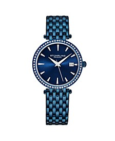 Women's Blue Stainless Steel Bracelet Watch 40mm