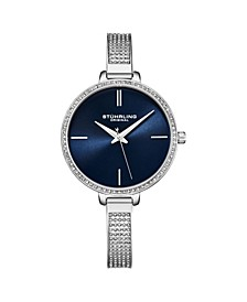 Women's Silver Tone Mesh Stainless Steel Bracelet Watch 36mm