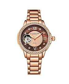 Women's Rose Gold Stainless Steel Bracelet Watch 36mm