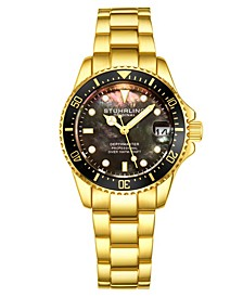 Women's Gold Tone Stainless Steel Bracelet Watch 32mm