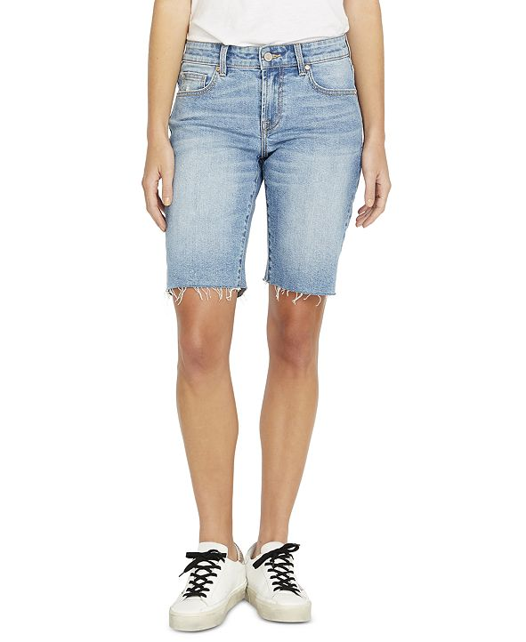 Buffalo David Bitton Frayed-Hem Bermuda Shorts