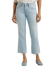 Mid-rise Cropped Mini Bootcut Jeans