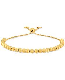 Beaded Bolo Bracelet in 18k Gold-Plated Sterling Silver