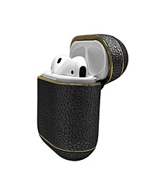 Metallic Leather Airpods Case Cover Guard