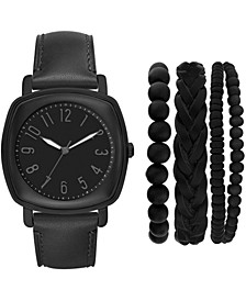 Men's Black Strap Watch 46mm