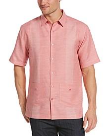 Men's Guayabera Yarn-Dyed Striped Shirt