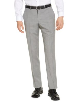 Armani Exchange Men's Modern-Fit Light Grey Suit Pants, Created for Macy's