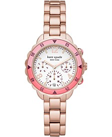 Women's Baywater Rose Gold-Tone Stainless Steel Bracelet Watch 34mm