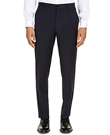 Armani Exchange Men's Classic-Fit Navy Blue Pinstripe Suit Pants, Created for Macy's