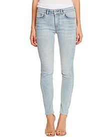 Contrast-Trim Skinny Jeans