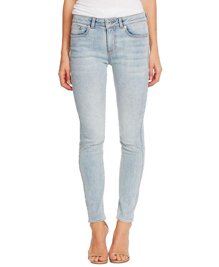CeCe - Contrast-Trim Skinny Jeans