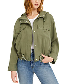 GUESS Bryant Drawcord Hooded Utility Jacket
