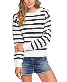 Juniors' Deep Honey Striped Sweater