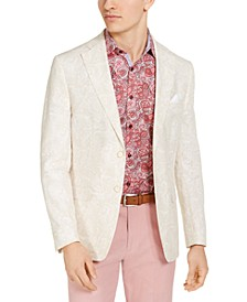 Orange Men's Slim-Fit Cream Paisley Sport Coat