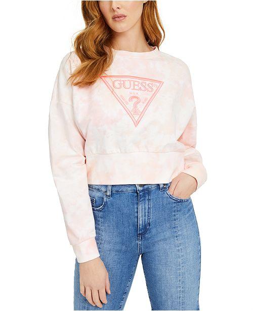 GUESS Mirtilla Fleece Tie-Dye Logo Sweatshirt