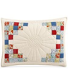 Artisan Sunflower Patchwork Standard Sham, Created for Macy's