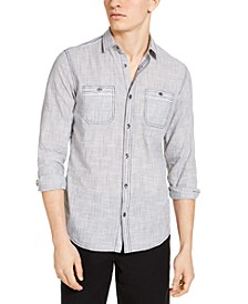 INC Men's Topstitch Shirt, Created for Macy's