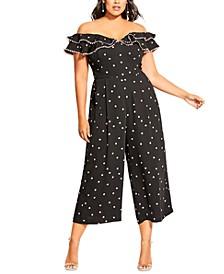 Trendy Plus Size Blush Spot Jumpsuit
