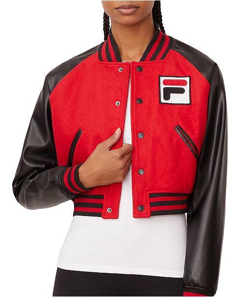 Fila Rosalie Colorblocked Cropped Jacket