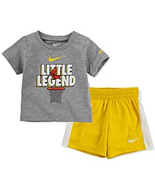 Baby Boys Graphic T-Shirt and Mesh Shorts 2-Piece Set