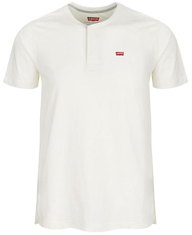 Levi's Men's Solid Logo Henley