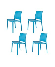 Sensilla Stackable Patio Dining Chair, Set of 4