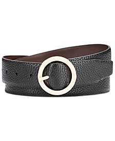 Reversible Belt With Circle Buckle
