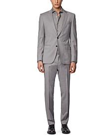 BOSS Men's Huge 6 / Genius 5 Medium Grey Suit