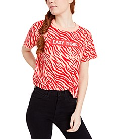 Juniors' Easy Tiger Graphic T-Shirt