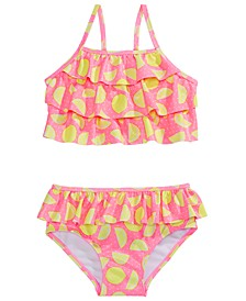 Toddler Girls 2-Pc. Ruffled Lemon-Print Tankini