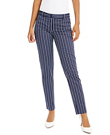 Petite Miranda Striped Skinny Pants