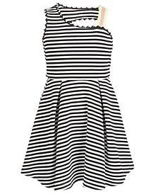 Big Girls Striped Asymmetrical Skater Dress