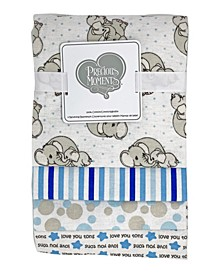 Baby Boys and Girls 4-Piece Receiving Blankets