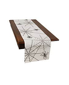 Halloween Spider Web Double Layer Table Runner