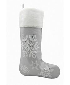 Glistening Snow Christmas Stocking