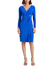 Petite Embellished Jersey Dress