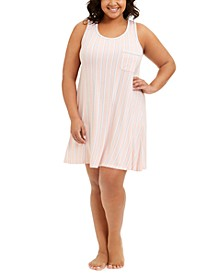 Plus Size Ultra-Soft Tank Nightgown, Created for Macy's