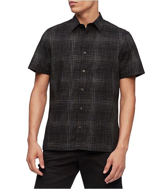 Calvin Klein Men's Short Sleeve Stretch Cotton Shirt
