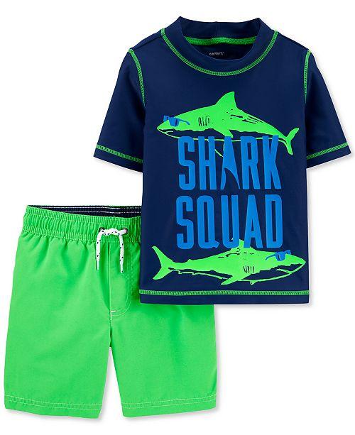 Carter's Baby Boys 2-Pc. Shark Squad Rash Guard Set