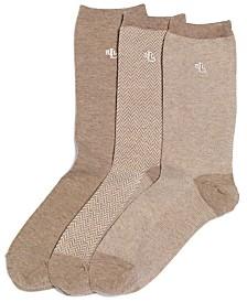 Lauren Ralph Lauren Women's Tweed Cotton Trouser 3 Pack Socks