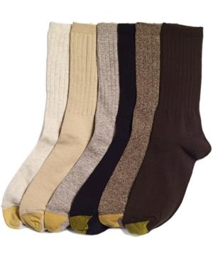 Women's Ribbed Crew 6 Pack Socks